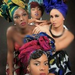 Stylish shweshwe design head wraps and Crown Global head