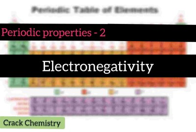 Crackchemistry, Electronegativity, Periodic table