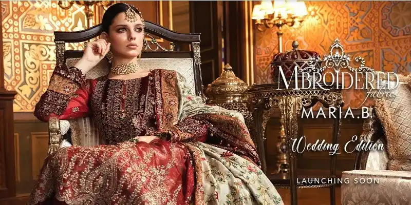Maria B Mbroidered Wedding Edition'20 is Best Choice for this Wedding Season