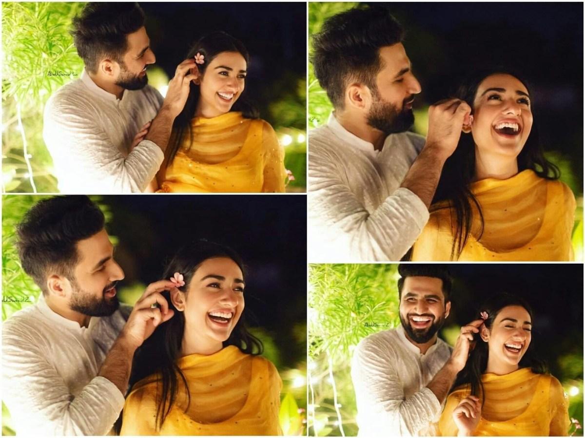 Sarah Khan and Falak Shabbir Mehndi Pictures and Videos