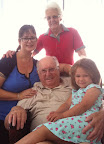 My grandmother, Maureen, grandfather, Cliff, with Matilda and me in January 2012