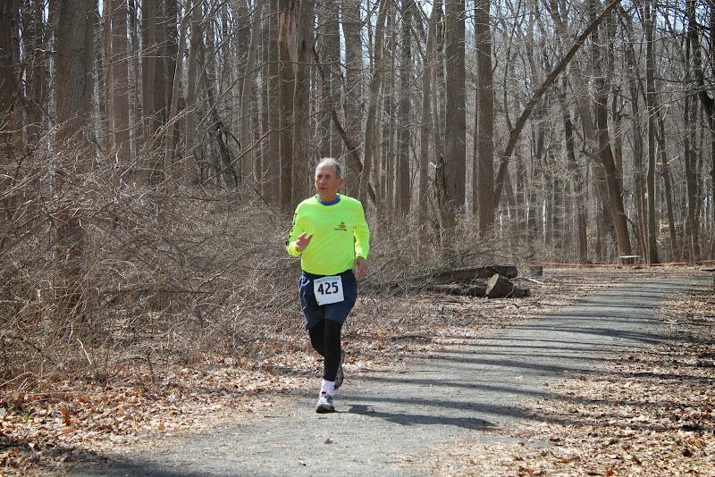 Princeton Athletic Club Institute Woods 6K April 5, 2014 Men's 70's winner - Dick Harnly, Fort Wayne, IN - 38:00