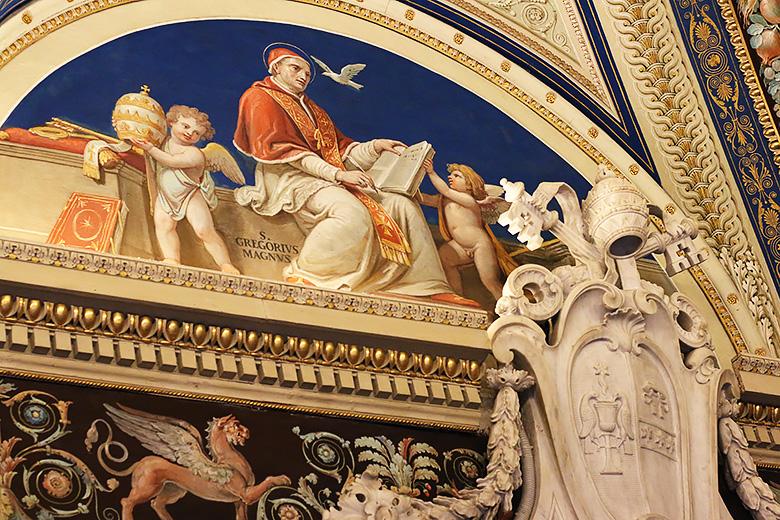 Fresque exposée au Vatican, à Rome.