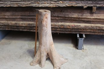 "558  White Cedar Table Base -16 27"" x 8"" Wide"