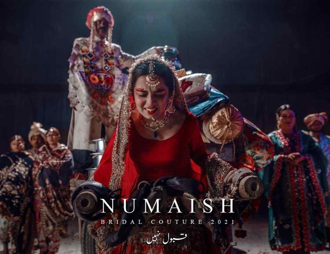 """Ali Xeeshan awareness against Dowry """"Numaish Bridal Couture 2021"""" highly appreciated by public"""