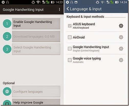 fitur handwritting di smartphone android