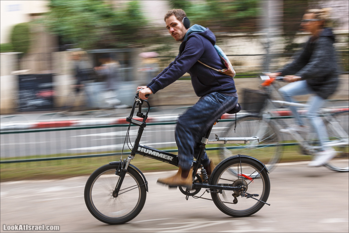 Тель-авивские велосипедисты, бегуны и прочие торопящиеся | LookAtIsrael.com - Фото путешествия по Израилю