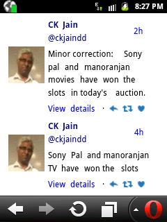 25th E Auction update Good news for DD Free Dish (DD Direct Plus) users, Sony Pal and Manoranjan TV won the slots on DD Free Dish 1