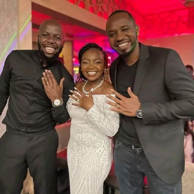 Vlogger Esther Kazungu with her husband James Kibunjah photo