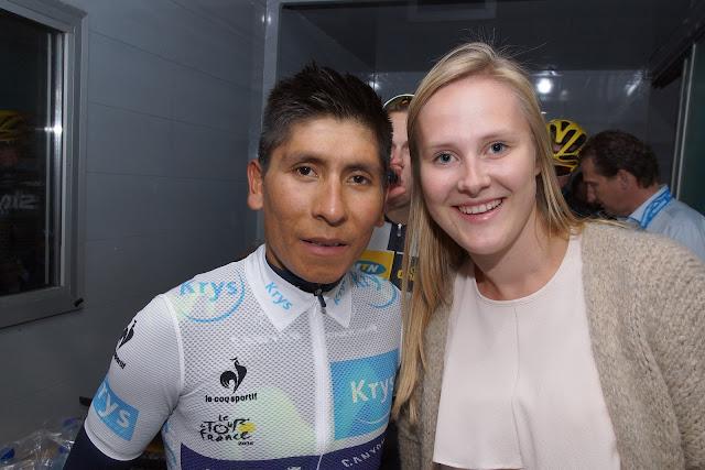 Laura Naessens en Nairo Quintana