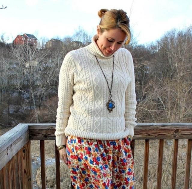 vintage-floral-skirt-leopard-wedges-2