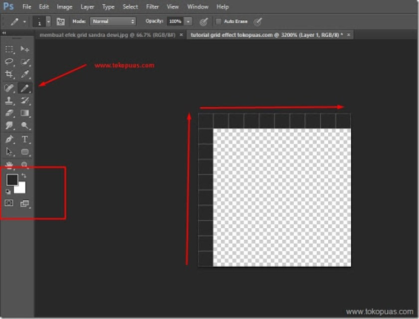 tutorial efek photoshop tutorial photo grid