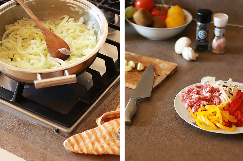 Cuisiner une sauce pour les pâtes.