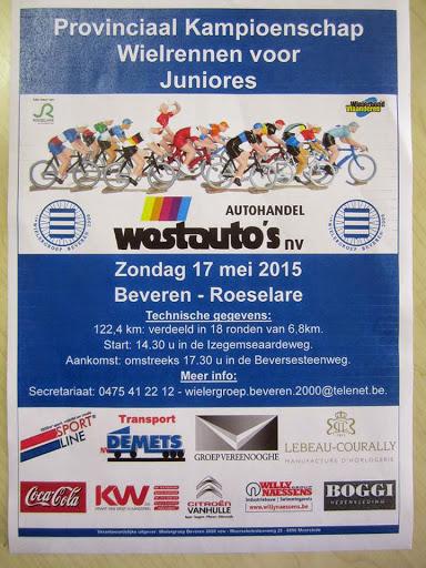 Affiche PK wielrennen juniores 2015