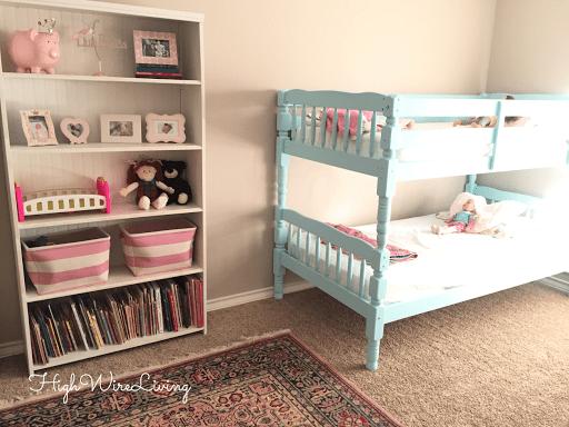 painted Aqua bunk bed
