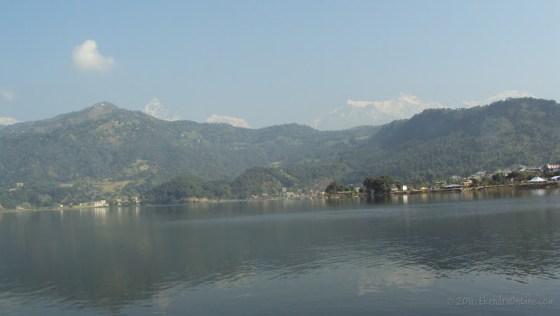 Fewa lake and Fishtail range