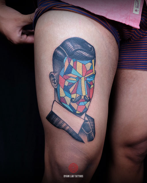 POMPADOUR CUBISM - Dyani Lao Tattoos and Art