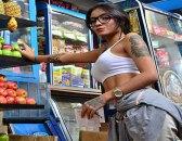 Porndoe - Un facial para la guarrísima tetona colombiana Marly Romero