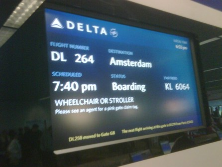 I can't believe it, I am really going home! After 6 days delay...