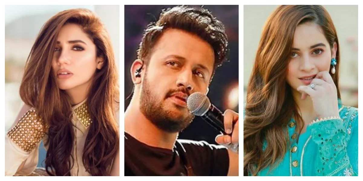 Which Pakistani actors are included in the list of 100 most Influential Artists in the world?