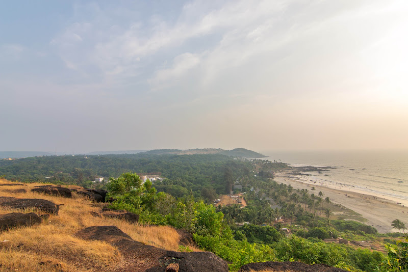 The Vagator Beach at a distance, Goa