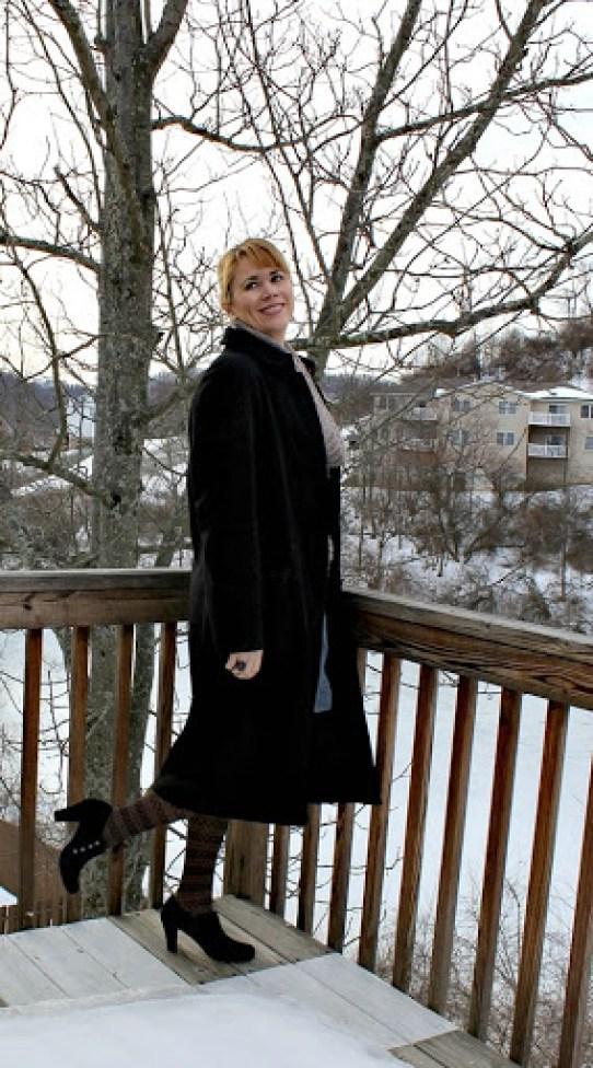 cowl-neck-sweater-denim-skirt-2