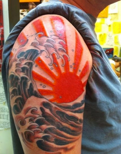 Japanese sun tattoos