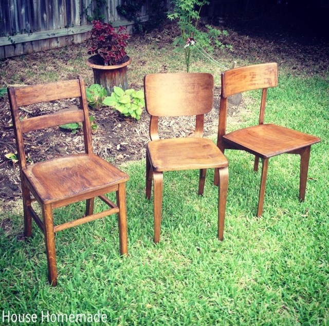 Stained chairs