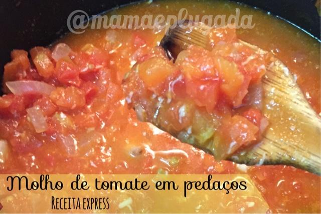 receita molho de tomate em pedaços