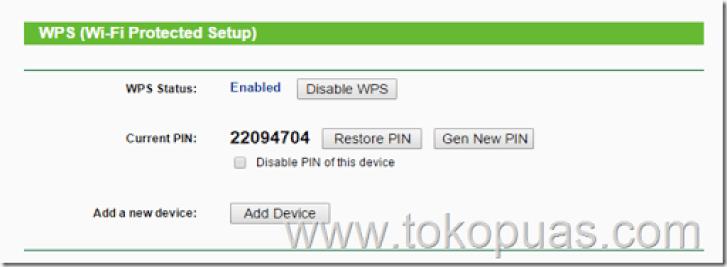 menampilkan wps settings