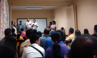 Deaf Students being introduced as visitors of Capitol City Baptist Church in Quezon City (January 12).