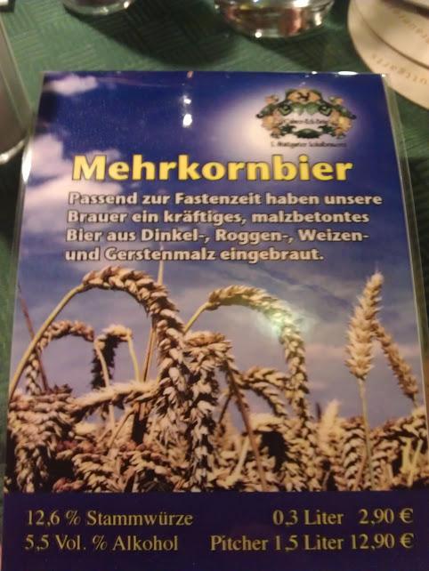 Bild von der Saisonkarte: Mehrkornbier