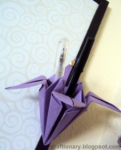 pencil-holder-origami-tulip