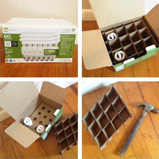 Hacer una estantería para niños con cartón.
