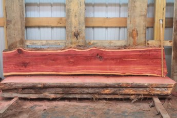 "Cedar 281-2  Length 8' 6"" Max Width (inches) 17 Min Width (inches) 14 Thickness 8/4  Notes : Kiln Dried"