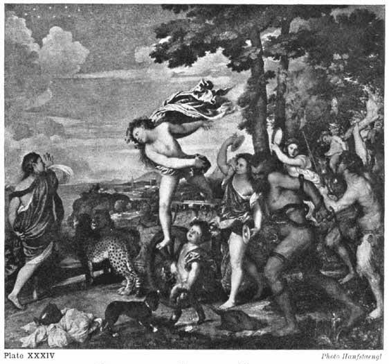 Plate XXXIV. BACCHUS AND ARIADNE. TITIAN Photo Hanfstaengl
