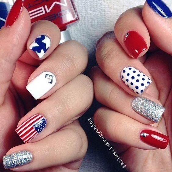 4th July Nail Art Designs Patriotic Spirit