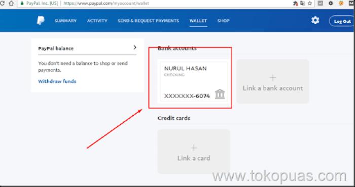 cara menambahkan rekening bank indonesia ke paypal