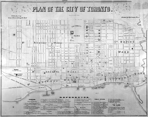 1858 Plan of the City of Toronto AO4697_m
