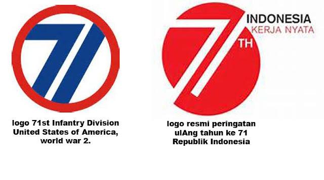 Logo HUT RI ke-71 Diduga Menjiplak Logo HUT Divisi Infanteri Amerika