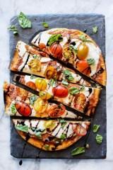 Mozzarella and Tomato Caprese Flatbread