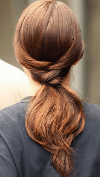 Simple Low Ponytail Hairstyle for short hair