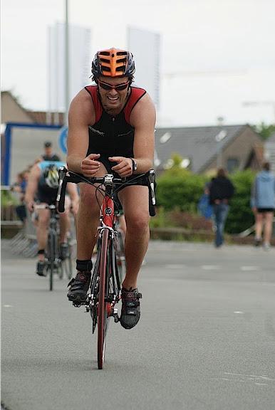 onderdeel fietsen tijdens triathlon