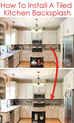 how to install a pencil tile backsplash