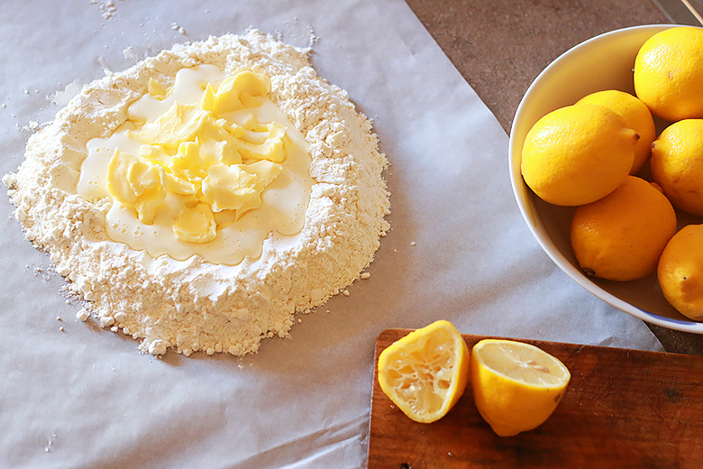 lemon pie, pastry cream with lemon, how to cook dough, easy dessert recipe