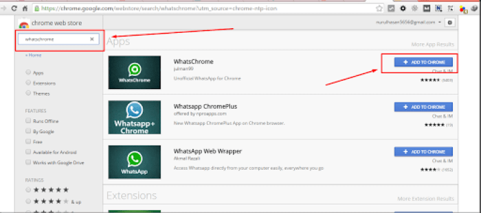whatsapp di google chrome
