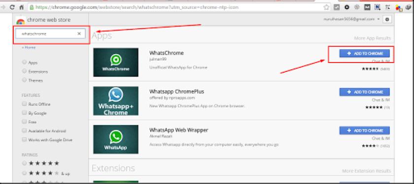 whatsapp di google chrome