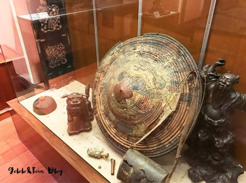 Objetos barcos chinos en el Museo Naval de Madrid