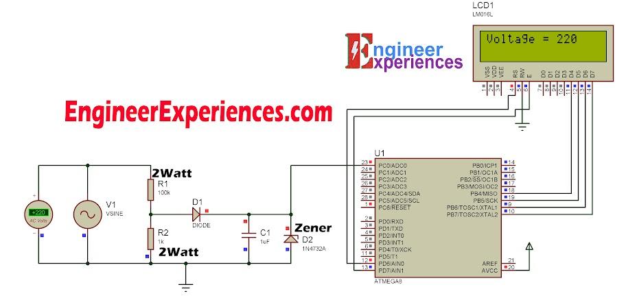 Circuit Diagram of Transformer less AC Voltmeter