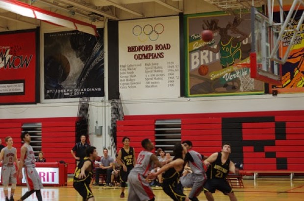 Mount Royal Mustangs vs. Bedford Road Redhawks in Senior Men's Basketball Action